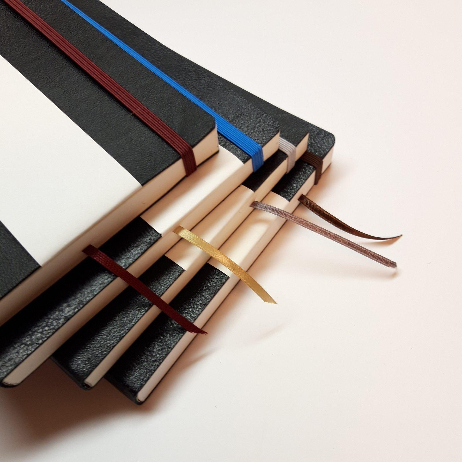 Notatbøker svart gjenbrukt skinn